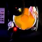 DJ spinning at a club music